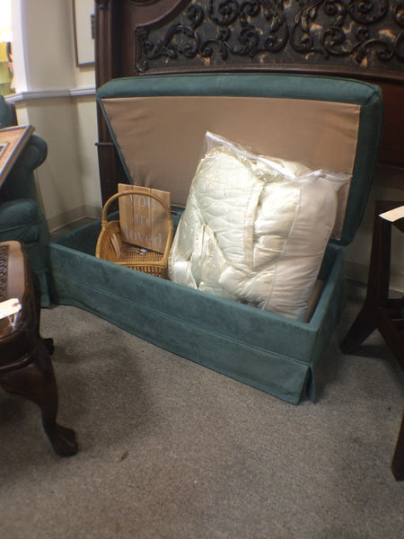 Sleeper Chair and Storage Ottoman