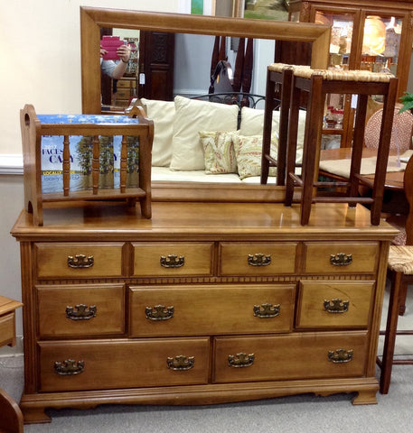 Maple Dresser & Mirror