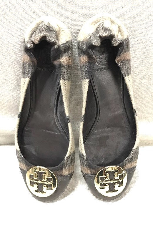 Tory Burch Flannel Reva Flats Size: 8