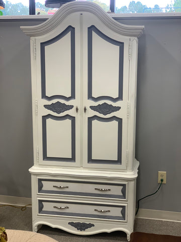 Painted Antique Armoire