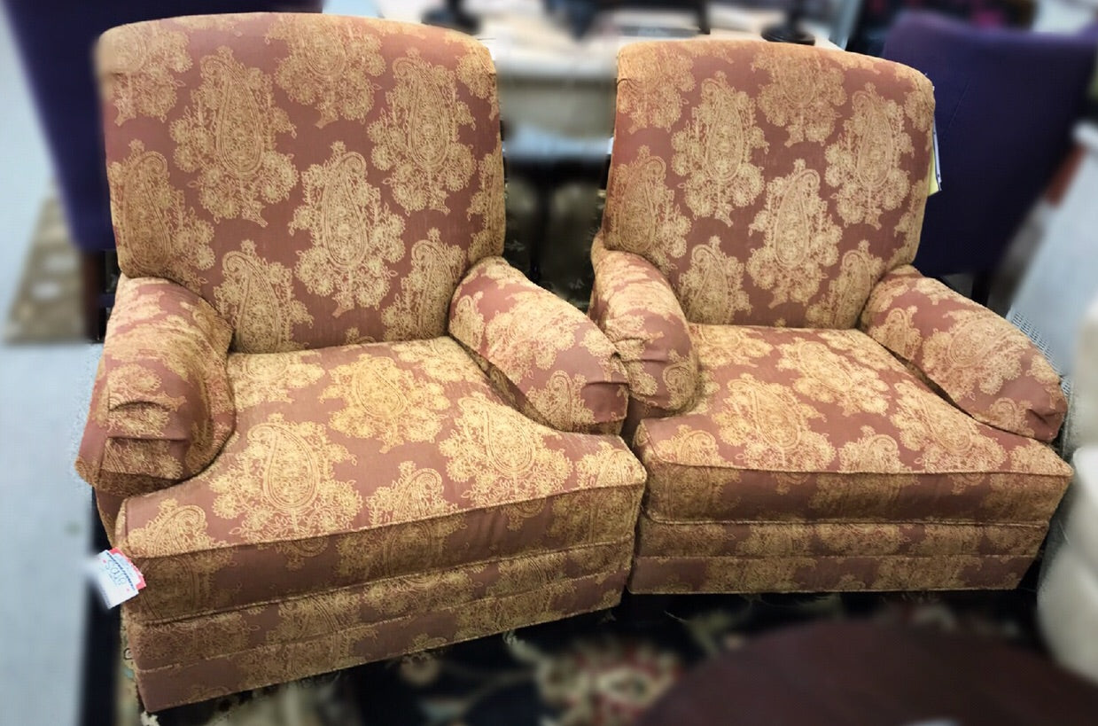 Ethan Allen Club Chairs PAIR ...