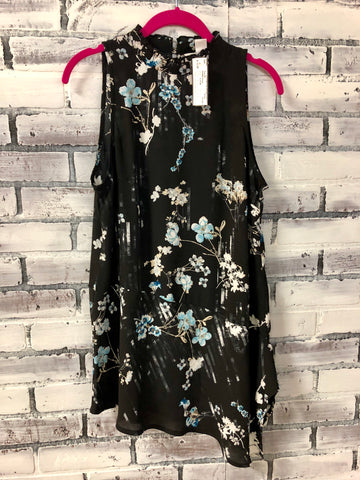 Lush cross front floral dress (s)