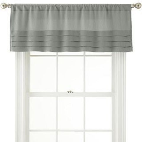 Ally Rod-Pocket Tailored Pleated Valance- Mineral Sage