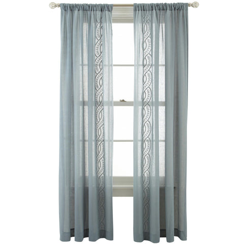 Artistry Rod-Pocket Sheer Panel- Abyss Green