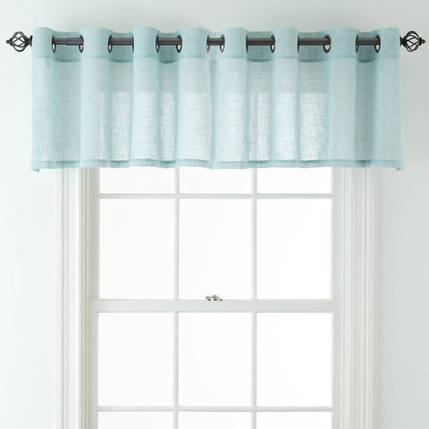 Bayview Grommet-Top Sheer Tailored Valance- Seamist