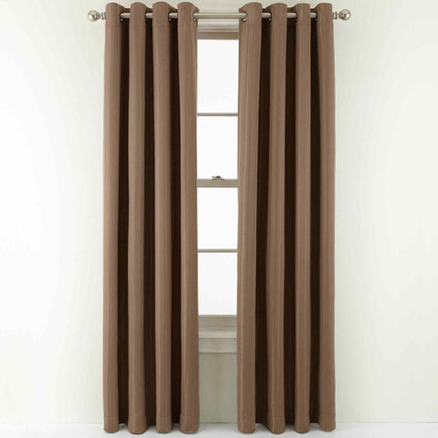 Carmen Blackout Grommet-Top Panel- Taupe Essence