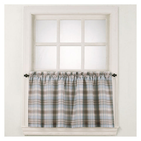 Dawson Rod-Pocket Window Tiers- Blue