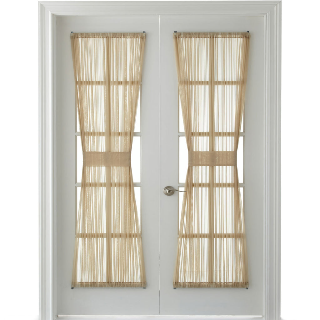 Voile Rod Pocket Door Panel  Linen