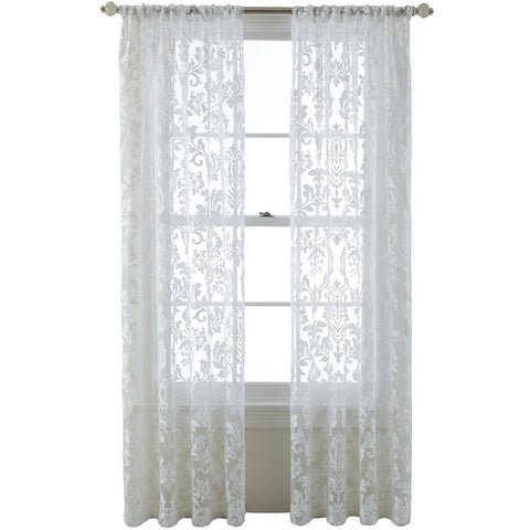 Ella Rod-Pocket Sheer Panel- Cool White