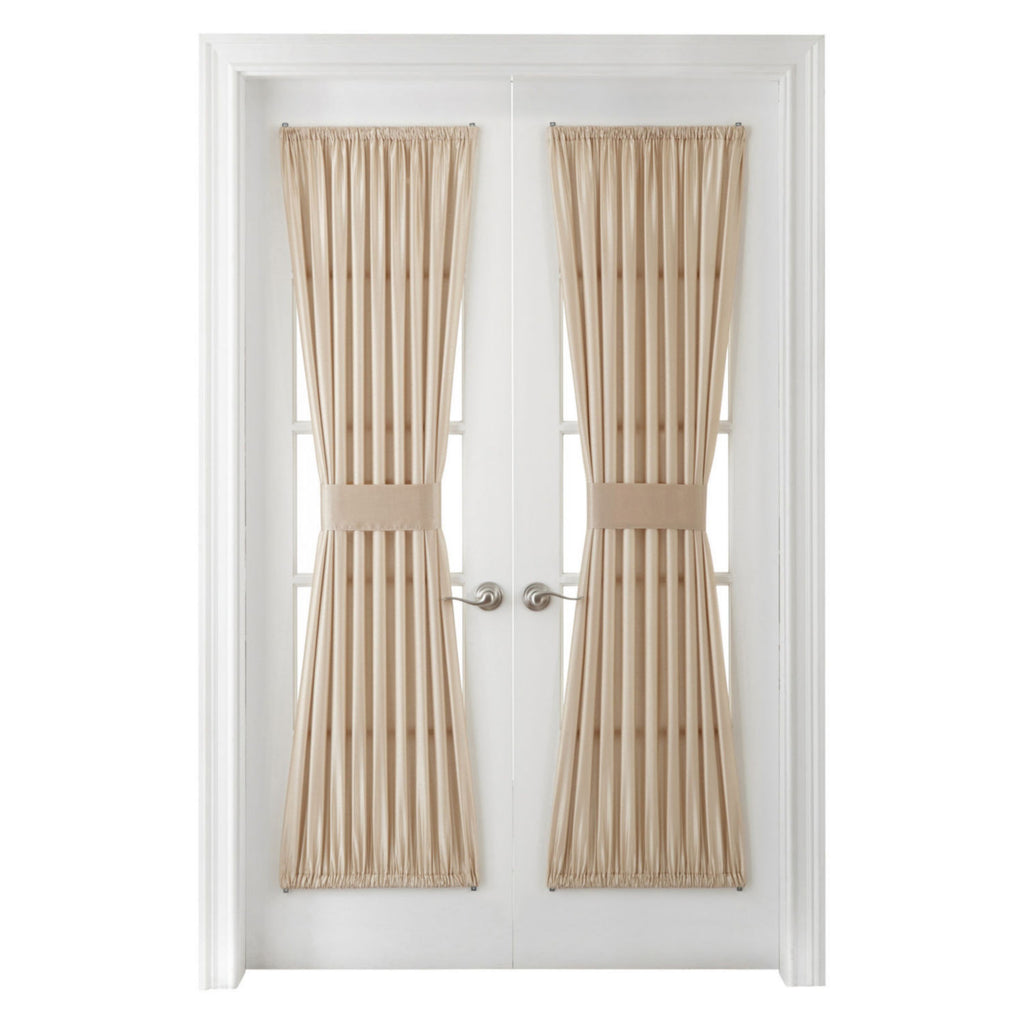 Encore Rod Pocket Door Panel  Ivory