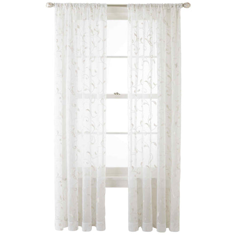 Harmon Rod-Pocket Sheer Panel- White