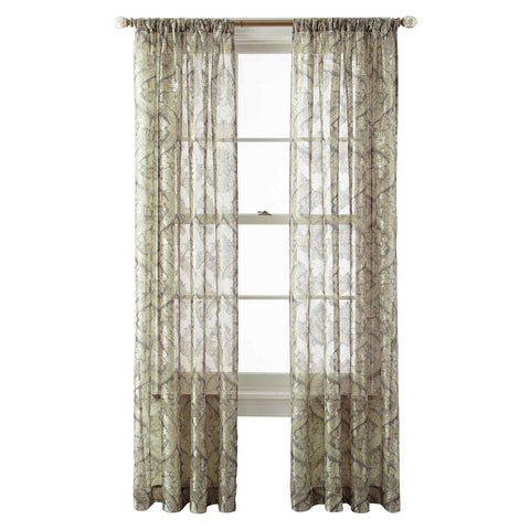 Opus Rod-Pocket Sheer Panel- Evening Sage