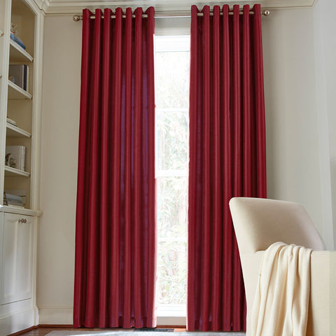 Plaza Grommet-Top Blackout Panel- Palmetto Red