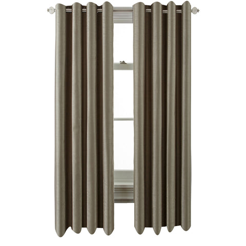 Plaza Grommet-Top Blackout Panel- Smokey Taupe