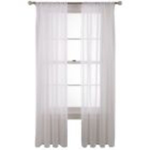 Voile Rod-Pocket Sheer Panel- Cool White