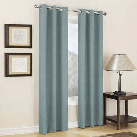 Mirage Grommet-Top Room-Darkening Curtain Panel- Mineral
