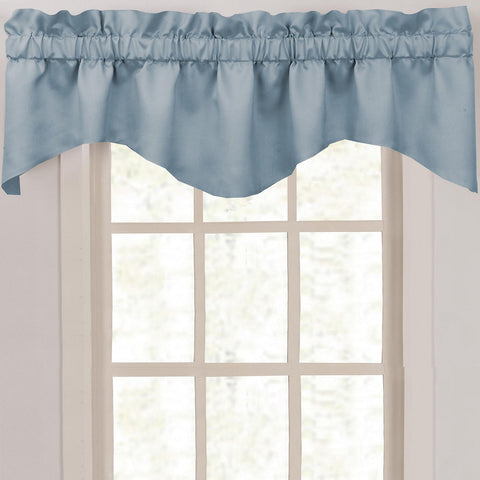 Supreme Palace Scalloped Valance- Delft Blue
