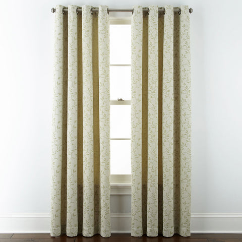 Anza Grommet-Top Curtain Panel- Green Clay