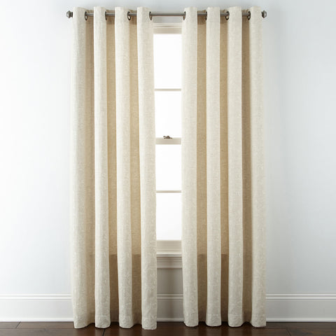 Anza Grommet-Top Curtain Panel- Ivory