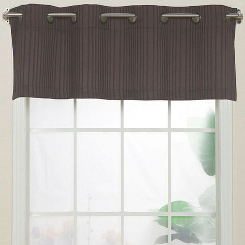 Armant Grommet-Top Valance- Chocolate