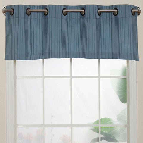 Armant Grommet-Top Valance- Mineral Blue