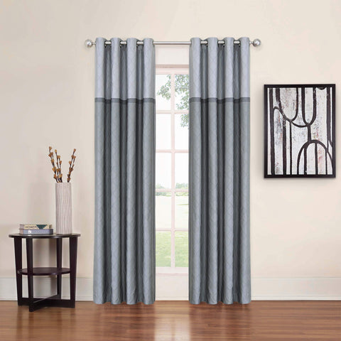 Arno Room-Darkening Grommet-Top Panel- Grey
