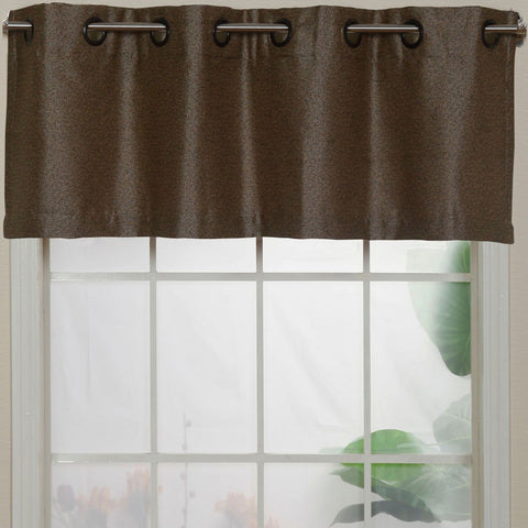 Aruba Grommet-Top Valance- Coffee