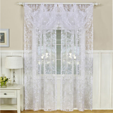 Berkshire Rod-Pocket Sheer Curtain Panel- White