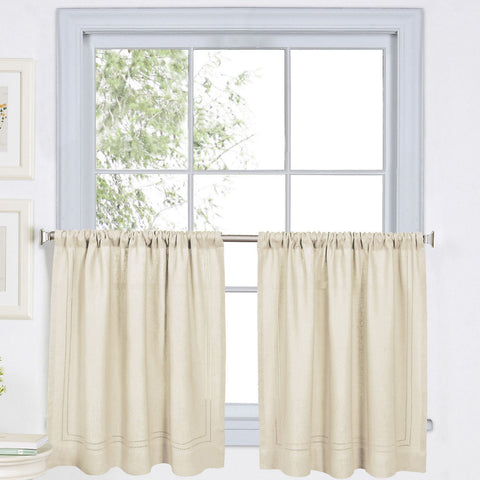 Cameron Rod-Pocket Window Tier Pair- Ivory