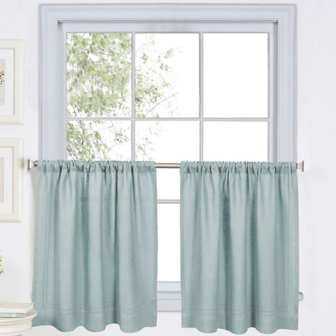 Cameron Rod-Pocket Window Tier Pair- Mineral