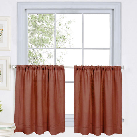 Cameron Rod-Pocket Window Tier Pair- Spice