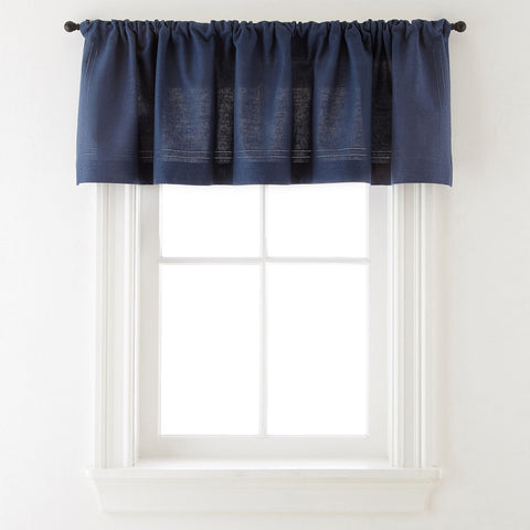 Cameron Rod-Pocket Valance- Indigo