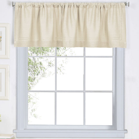 Cameron Rod-Pocket Valance- Ivory