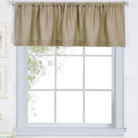 Cameron Rod-Pocket Valance- Linen