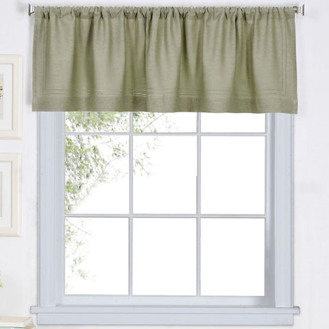 Cameron Rod-Pocket Valance- Sage