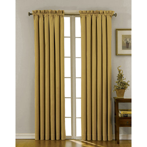 Canova Room-Darkening Rod-Pocket Panel- Gold