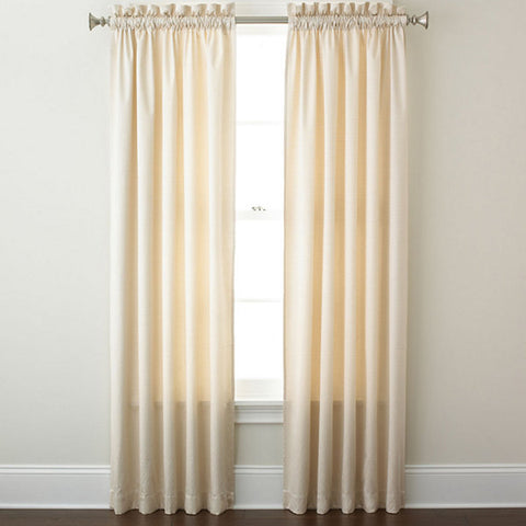 Canova Room-Darkening Rod-Pocket Panel- Ivory