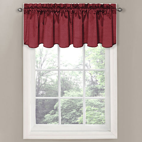 Canova Rod-Pocket Valance- Burgundy