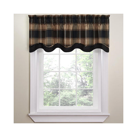 Carpet Ride Plaid Valance- Onyx