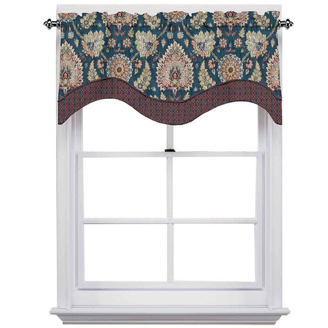 Clifton Hall Scalloped Valance- Gem