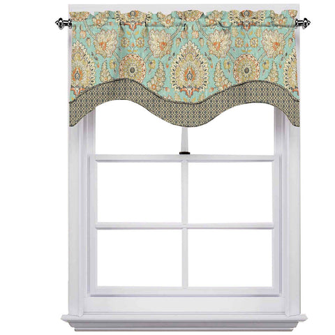 Clifton Hall Scalloped Valance- Opal