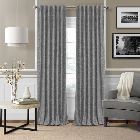 Colton Room Darkening Back Tab Panel- Gray
