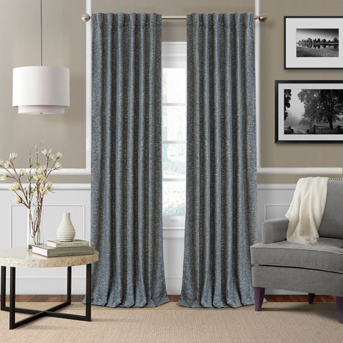 Colton Room Darkening Back Tab Panel- Navy
