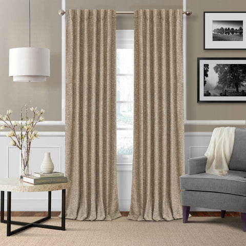 Colton Room Darkening Back Tab Panel- Taupe