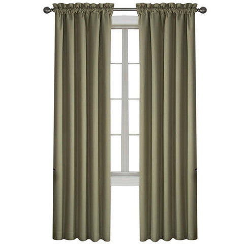 Corinne Room-Darkening Rod-Pocket Panel- Olive