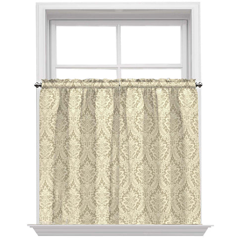 Donnington Rod-Pocket Window Tiers- Linen