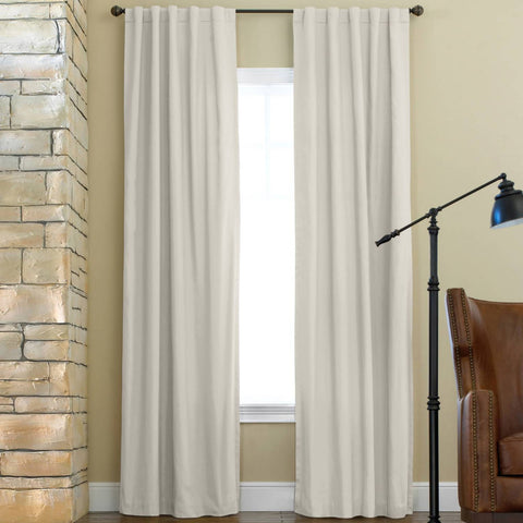 Jenner Rod-Pocket/Back-Tab Curtain Panel- Soft Cream