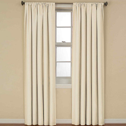 Kendall Room-Darkening Rod-Pocket Thermal Panel- Ivory