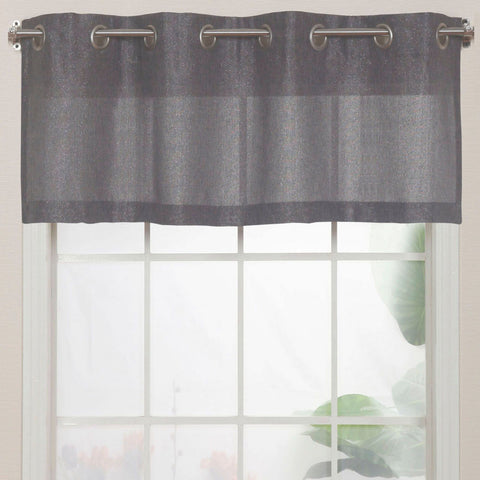 Lancer Grommet-Top Valance- Charcoal