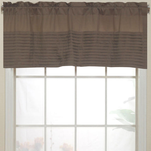 Landford Rod-Pocket Valance- Tan
